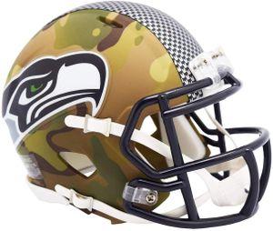 NFL Seattle Seahawks Camo Mini Helm Speed Riddell Footballhelm Camouflage