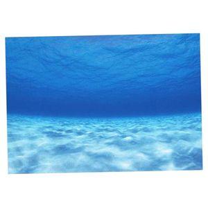 3D Einseitiges Aquarium Universum Landschaft Poster Aquarium Hintergrund 122x46cm Größe 122x46cm