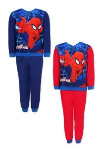Spider-Man Schlafanzug Pyjama Jungen Kinder, Farbe:Blau, Größe:104