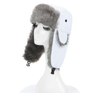 Uni Maenner Frauen Russische Hut Trapper Bomber Warme Trooper Ohrenklappen Winter Ski Hut Cap Headwear