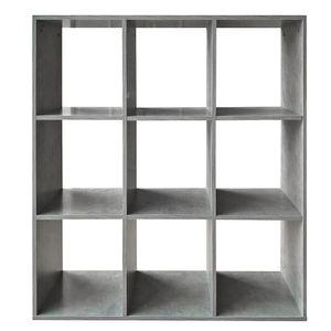 Raumteiler Grau 9 Fächer Stufenregal Bücherregal Büroregal Standregal Akten Aktenregal Treppenregal Stufenregal Treppe Büroregal