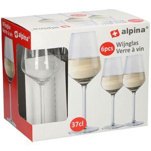 Alpina 6-teiliges Weißweingläser-Set 370 ml, spülmaschinenfest