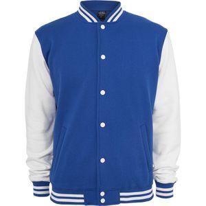 Urban Classics 2-tone College Sweatjacket, Farbe:nvy/wht;Größe:3XL