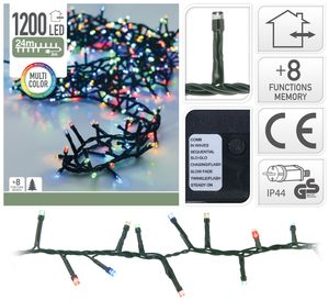 weihnachtsbeleuchtung 1200 led IP44 24 meter
