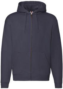 Fruit of the Loom Premium Hooded Sweat Jacket, Farbe:deep navy, Größe:2XL