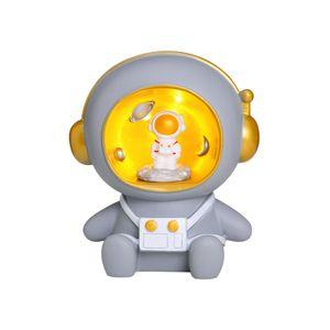 Resin Astronaut Sparschwein, Kinder Sparschwein mit Licht (grau)