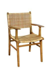 SIT Möbel Armlehnstuhl | Teak-Holz | mit Rattan-Geflecht | natur | B 59 x T 60 x H 84 cm | 02465-01 | Serie SIT&CHAIRS