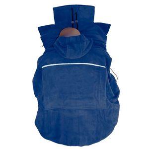 "Hoppediz® Fleece-Cover ""Basic"" - wärmendes Tragecover für kalte Wintertage, Design: marine"