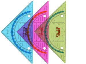 KUM Geometriedreieck Lineal 140mm Kunststoff Farbig sortiert 15 Stück