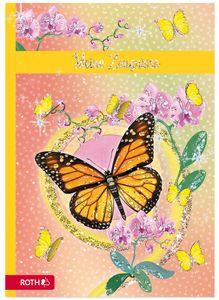 """ROTH Zeugnismappe """"Schmetterling"""" mit Design und Effekt inkl. 10 PP-Hüllen"""