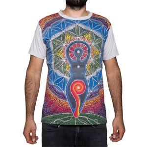 PANASIAM T-Shirt Mirror Men, Farbe/Design:Om hellgrau, Größe:L