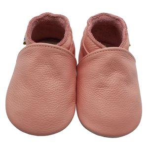 Weiche Yalion Baby Krabbelschuhe Lauflernschuhe Lederpuschen aus echtem Leder Einfarbig Pink (M, 6-12 M, EU 20-21)