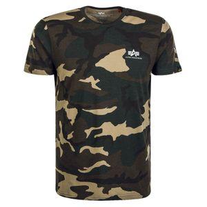 Alpha Industries Basic T Small Logo T-Shirt Farbe: Camouflage, Grösse: XL