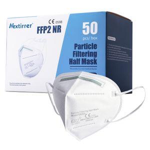 Nextirrer 200x Atemschutzmaske FFP2 Maske ≥94% Faltbare Halbmasken Einzelpaket mit Nasenbügel