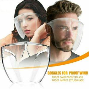 Face Shield Brille Schutzvisier transparent Gesichtsschutz Visier Anti-Spuck Gesichtsvisier ,Mund Nasen Visier