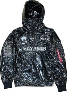 Alpha Industries Herren Windbreaker Voyager NASA Anorak black S