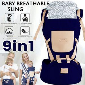 9 in1 Ergonomische Babytrage Kindertrage Bauchtrage Rückentrage 4 Tragpositionen Rucksack MAX.25kg