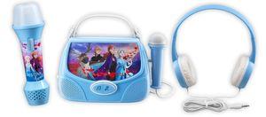 Disney Eiskönigin 2 / Frozen 2 Geschenk Bundle - Karaoke Set mit Kopfhörer, Karaoke Maschine und Karaoke Mikrofon für Kinder