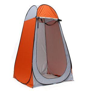 Tragbares Outdoor Pop-up Duschzelt Camping Strandtoilette Privatsphäre Umkleideraum Orange