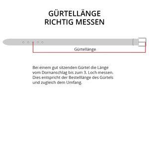 Ledergürtel Herren schwarz Überlänge Lindenmann, Gürtellänge:135 cm
