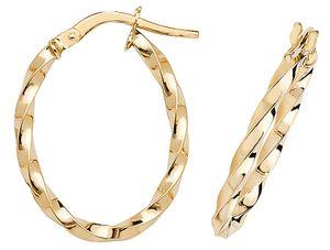 9 Karat (375) Gold Damen - Paar Creolen - 21mm*2mm; WJS16382