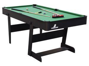 Cougar Hustle L Billardtisch 5ft in Schwarz / Grün   Pooltisch klappbar inkl. Zubehör   Tischbillard für Kinder und Erwachsene   Indoor Pool / Billard Tisch