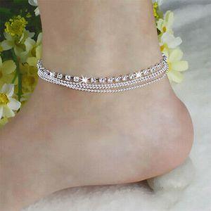 Fußkettchen Strand Fußkette Ketten Armband Fußschmuck Brautschmuck Neu