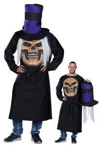 Mottoland 119197 - Verrückter Horror Schädel Gr. XS Halloween Totenschädel