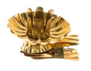 Baumkerzenhalter Clip in Schweifform 10er Set gold oder silber  Germany, Farbe:gold