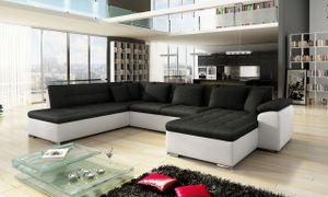 Mirjan24 Ecksofa Niko Bis, Bettkasten und Schlaffunktion, Sofa vom Hersteller, Wohnlandschaft, Polstergarnitur (Soft 017 + Porto 36, Seite: Rechts)