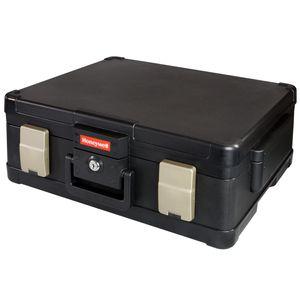 HMF 2511302 Feuerfeste Dokumentenkassette XL Honeywell 50,7 x 43,6 x 18,7 cm, schwarz