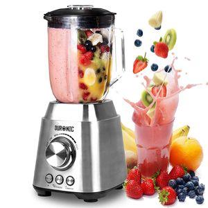 Duronic BL102 elektrischer Standmixer 1000 W | Mixer | Hochleistungsmixer | Smoothie Maker | Edelstahl | 1,5L Glaskrug | Ideal für Smoothies, Frappe, Lassi, Cocktails, Fitnessdrinks, Obst, Gemüse