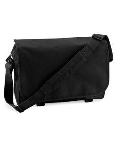 Messenger Bag Umhängetasche   38 x 30 x 12 cm - Farbe: Black - Größe: 38 x 30 x 12 cm