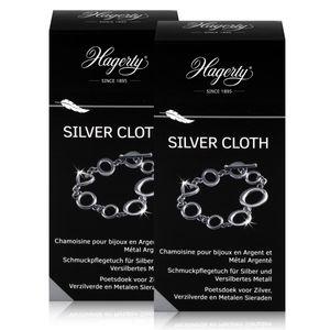 Hagerty Silver Cloth - Schmuckpflegetuch für Silber 36x30cm (2er Pack)