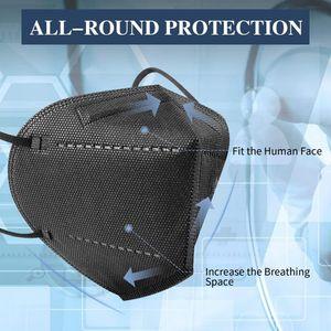 100 x qualifizierte und preiswerte FFP2-Maske(schwarz) / Atemschutzmaske mit neue 0161-CE-vertifizierung,bieten Schutz gegen Staub/Allergie/Infektion/Pollen//