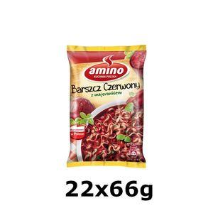GroßhandelPL Amino Instant Suppe Nudle Red Borscht 22x66g