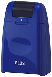 PLUS JAPAN Datenschutz Rollstempel Standard blau