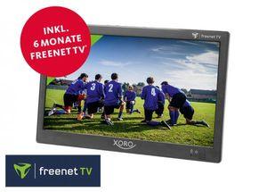 XORO Tragbarer LED TV 25,6cm (10,1 Zoll) PTL1050, 1024x600 Pixel, DVB-T,DVB-T2, UHF, VHF, Farbe: Schwarz