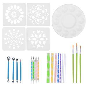 Punktmalwerkzeuge Nail Art Tool Mandala Punktierwerkzeuge Flexibel Praktisch Acryl Edelstahl Keramik Gravur