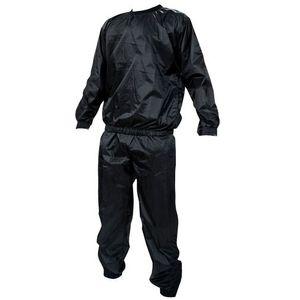 Kabalo Schwarz Saunaanzug Sauna-Anzug PVC Anzug Saunasuit Heavy Duty One-Size-Fits-All Sweat Suit Sauna Suit Exercise Gym Suit Fitness Weight Loss Anti-Rip - Hause Fitnessgeräte