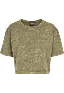 Urban Classics Female Shirt Ladies Random Wash Short Oversize Tee Olive-XS