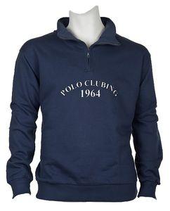 Troyer Sweatshirt Herren Übergröße blau-grau DAVE´S Übergröße, Größe:2XL