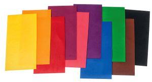 Verzierwachsplatten, 175 x 80 mm, 10 Stück Grundfarben