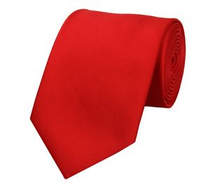 Schlips Krawatte Krawatten Binder 8cm rot hellrot uni Fabio Farini