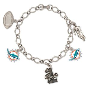 Wincraft Damen Charms Armband - NFL Miami Dolphins