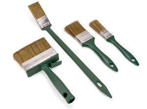 4tlg. Lasurpinsel Set Pinsel Heizkörperpinsel Flachpinsel Flächenstreicher
