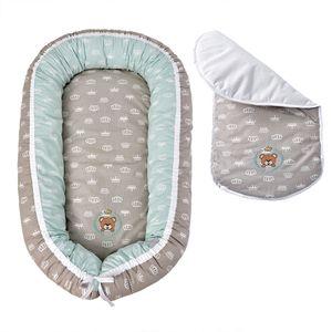 Babynestchen 88x60x12cm | Bezug 100% Baumwolle | mit Reißverschluss | Sei Design