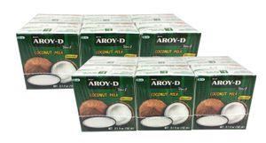 [ 12x 150ml ] AROY-D Kokosmilch Kokosnussmilch Cocosmilch Coconut Milk