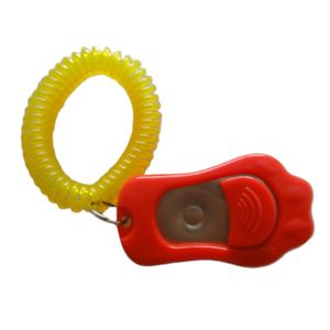Profi Clicker Hundetraining Klicker Clickertraining Mit Armband Farbe rot