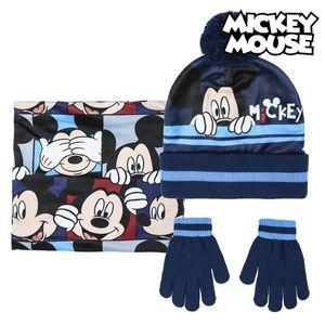 Mütze, Handschuhe und Halstuch Mickey Mouse 74325 Marineblau (3 Pcs)